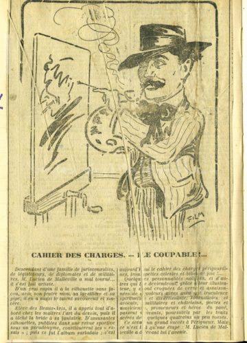 Caricature de Lucien de Maleville